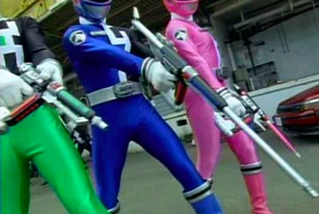 Green, Blue, and Pink with DeltaMax Blasters