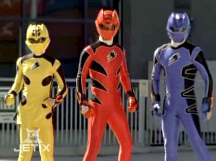 Jungle Fury Rangers (not shown: Wolf Ranger, Rhino Ranger)