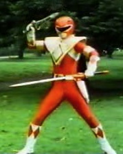 Red Ranger with Dragon Dagger, Dragon Shield, and Power Sword