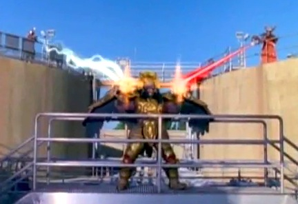 Zedd and Rita destroying Power Coins in Goldar's hands