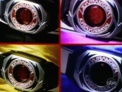 Four Morpher buckles without coins (sentai)