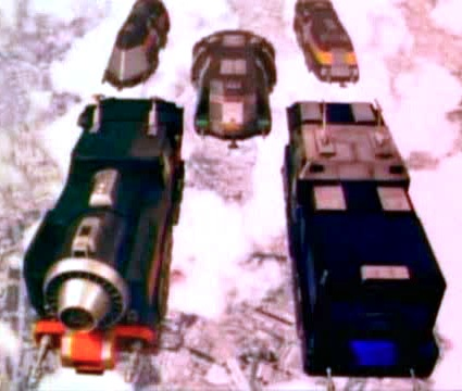 Rail Rescues in formation for Supertrain Megazord assembly