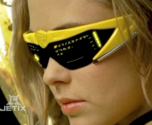 Lily wearing yellow Solar Morpher