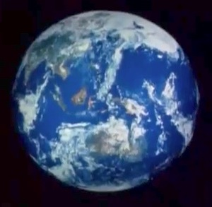 Space base's view of Earth
