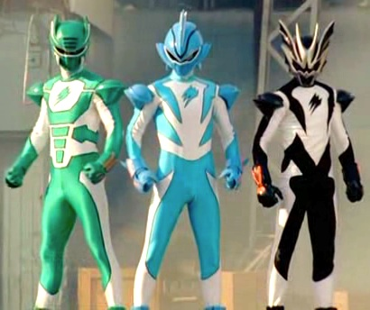 Left to right: Elephant Ranger, Shark Ranger, Bat Ranger