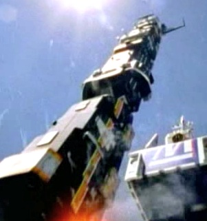 Rail Rescue rocket (with Solarzord in front)